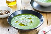 picture of celery  - Spinach with celery and fennel soup by sea salt  - JPG