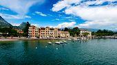 Lago Di Garda In Italy In Early Spring