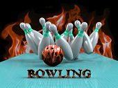 Bowling Game Strike rot
