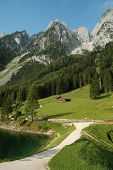 Scenery Dachstein at Lake Gosau