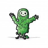 cartoon melting slime zombie