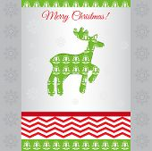 Card Merry Christmas Vector
