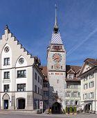 Zytturm Clock Tower In Zug City