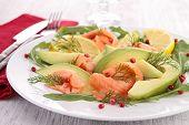 avocado and salmon