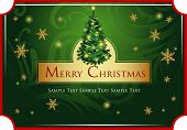 Christmas greeting card with delightful Christmas tree
