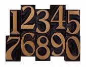 stock photo of arabic numerals  - ten arabic numerals 0 - JPG