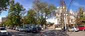 Simferopol, Ukraine - Oct 7, 2014: Central Square With Orthodox Temple Of Aleksander Nevsky And Crim