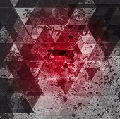 Red grunge abstract background. Tech vector design