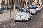 Vintage And New Fiat 500 Abarth
