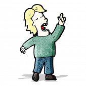 cartoon man explaining