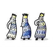 pic of three kings  - cartoon three kings - JPG