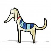 image of greyhounds  - cartoon greyhound - JPG