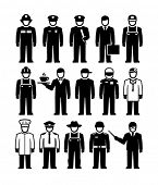Workers of different professions