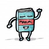 cartoon waving manual book