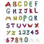 cartoon pencil shaped alphabet