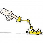 cartoon smiting hand