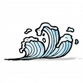cartoon waves