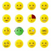 Creepy Smileys - Buttons