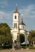 Church of Saint George in Kladovo at twilight, Serbia