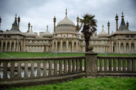 pic of saracen  - Picturesque view of the external facade of the Brighton Royal Palace Pavilion  - JPG