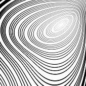 foto of twist  - Design monochrome whirl ellipse movement background - JPG