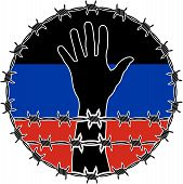 picture of human rights  - violation of human rights in Donetsk - JPG