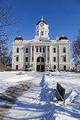 stock photo of illinois  - Old courthouse in Carthage winter time - JPG