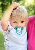 picture of teats  - The Child Portrait in the Summer Park - JPG