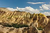 picture of goreme  - Mountain landscape panoramic view in the Goreme