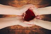 stock photo of glass heart  - Mother - JPG