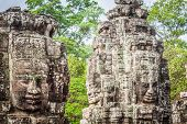 picture of stone sculpture  - Stone murals and sculptures in Angkor wat Cambodia - JPG