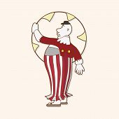 picture of circus clown  - Circus Clown Theme Elements Vector - JPG