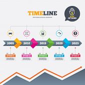 image of petrol  - Timeline infographic with arrows - JPG