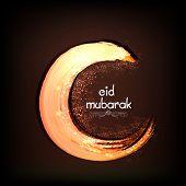 stock photo of ramadan mubarak  - Beautiful creative crescent moon on brown background for holy festival of Muslim community - JPG