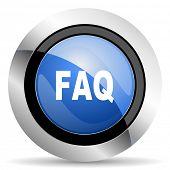 stock photo of faq  - faq icon  original modern design for web and mobile app on white background   - JPG