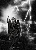 Lightning Strikes The Angel Gabriel
