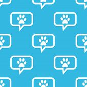 pic of paw-print  - Image of paw print in chat bubble - JPG