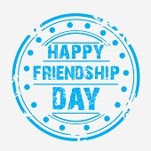image of friendship day  - illustration of a grungy stamp for Friendship Day - JPG
