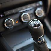 stock photo of gear-shifter  - Gearshift in the car - JPG