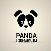 pic of pandas  - vector panda icon - JPG