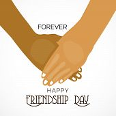 picture of friendship day  - illustration of a beautiful greeting for Friendship Day - JPG