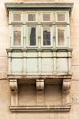 foto of maltese  - Balconies on traditional Maltese house in the capital city of Valletta - JPG