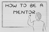 picture of mentoring  - how to be a mentor teacher writing on blackboard - JPG