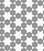picture of hexagon pattern  - Monochrome dotted texture - JPG