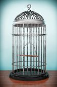 foto of caged  - Old Style Photo - JPG
