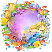 pic of mermaid  - underwater world - JPG