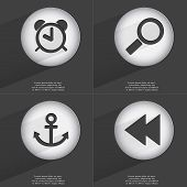 image of anchor  - Anchor Magnifying glass Anchor Rewind icon sign - JPG