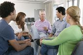 picture of aa meeting  - Meeting Of Support Group - JPG