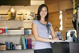 picture of cosmetic products  - Portrait Beauty Product Shop Manager - JPG