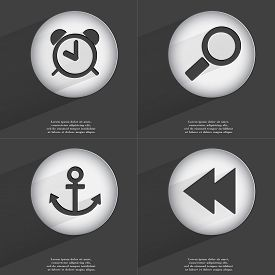 picture of anchor  - Anchor Magnifying glass Anchor Rewind icon sign - JPG